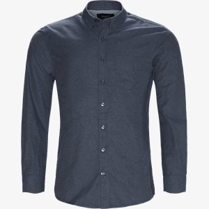 Dennis  Structure Shirt Regular | Dennis  Structure Shirt | Blå