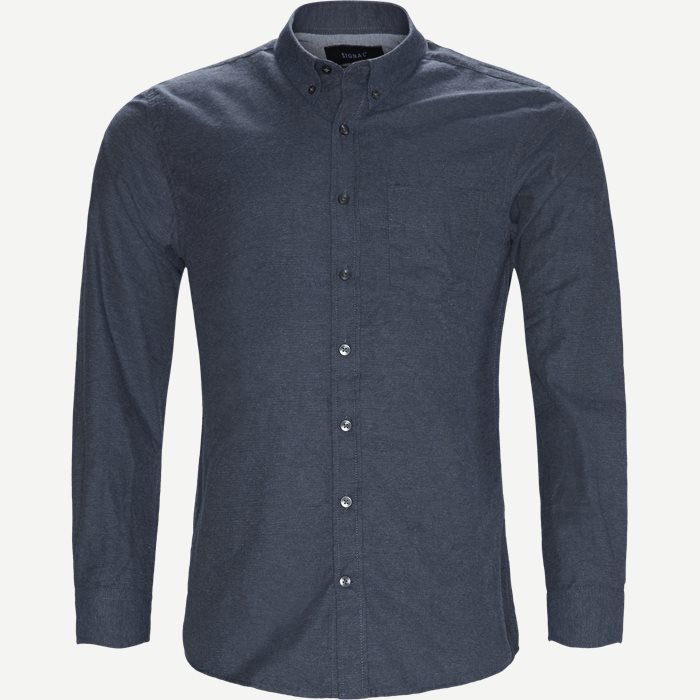 Dennis  Structure Shirt - Skjorter - Regular - Blå