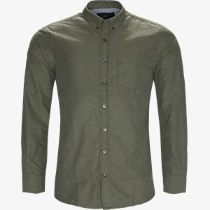 Dennis  Structure Shirt Regular | Dennis  Structure Shirt | Grøn