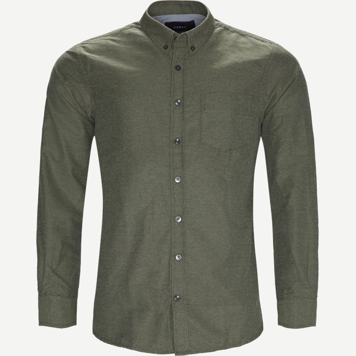 Dennis  Structure Shirt - Skjorter - Regular - Grøn