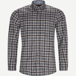 Dirk Check Shirt Regular | Dirk Check Shirt | Grå
