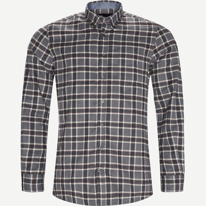Dirk Check Shirt - Skjorter - Regular - Grå