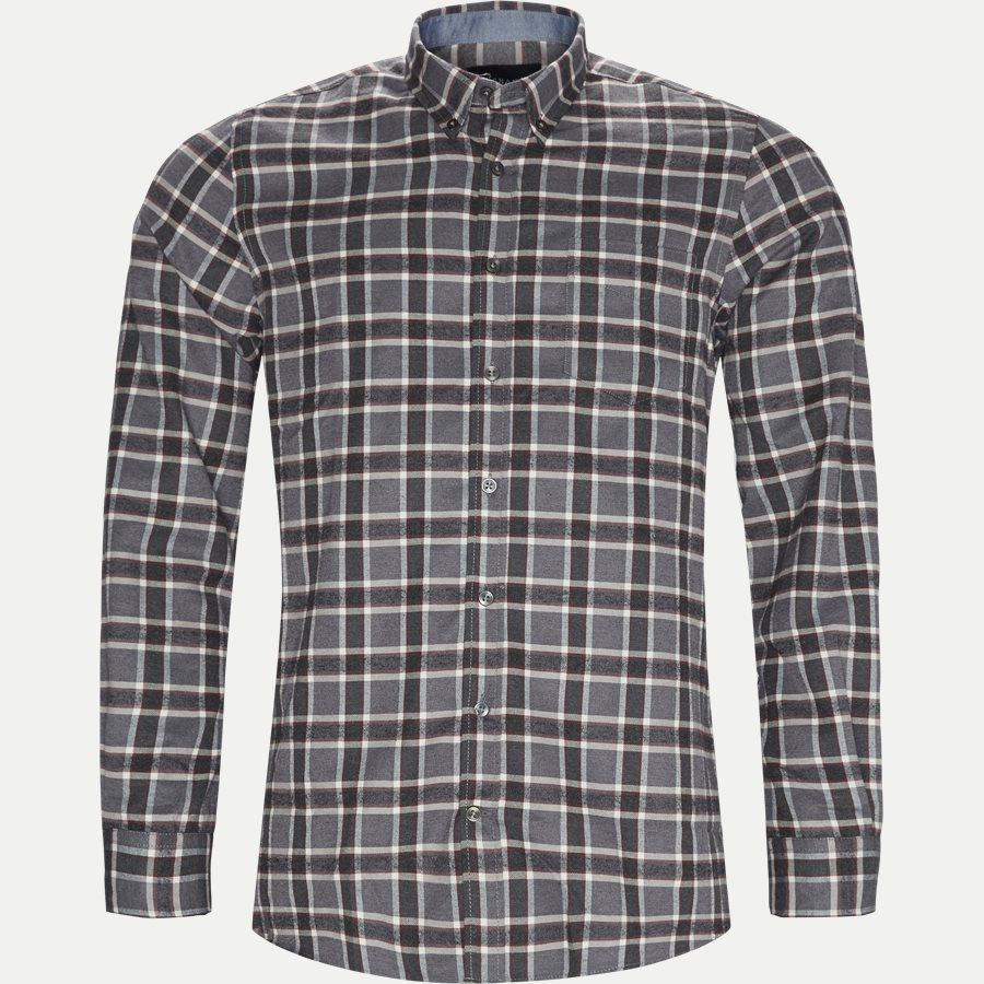 15270 1180 - Dirk Check Shirt - Skjorter - Regular - GRÅ - 1