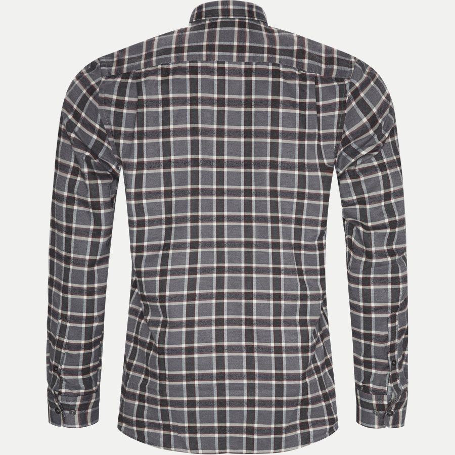 15270 1180 - Dirk Check Shirt - Skjorter - Regular - GRÅ - 2