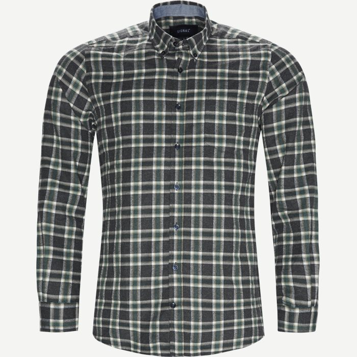 Dirk Check Shirt - Skjorter - Regular - Grøn