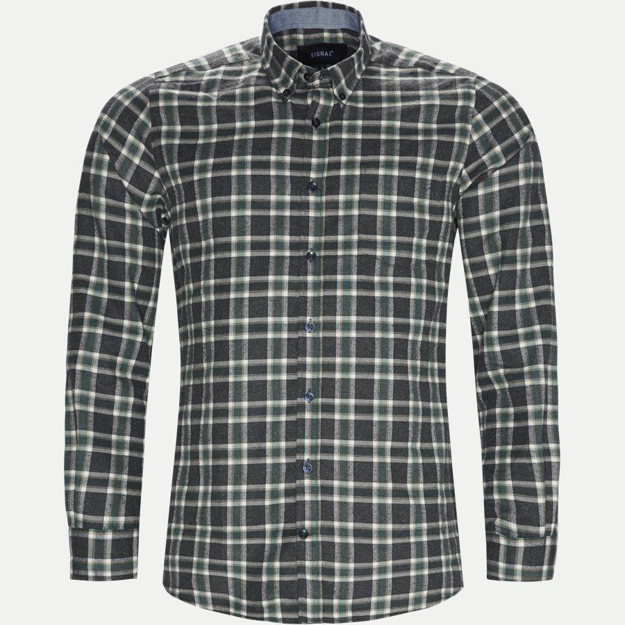 15270 1180 - Dirk Check Shirt - Skjorter - Regular - GRØN - 1