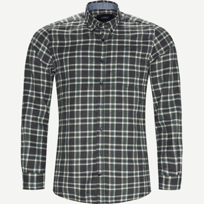 Dirk Check Shirt - Skjorter - Regular - Grøn