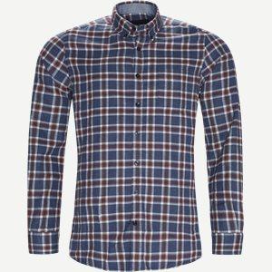 Dirk Check Shirt Regular | Dirk Check Shirt | Blå