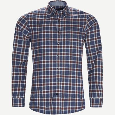 Dirk Check Shirt Regular | Dirk Check Shirt | Blå