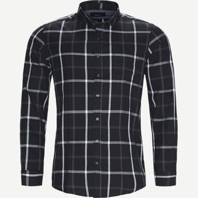 Danny Herringbone Shirt Regular | Danny Herringbone Shirt | Sort
