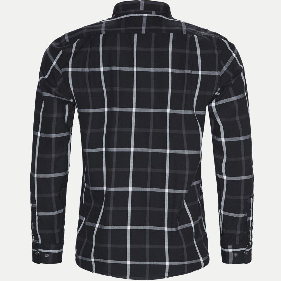 15271 1181 - Danny Herringbone Shirt - Skjorter - Regular - SORT - 2