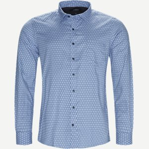 Dustin Print Shirt Regular | Dustin Print Shirt | Blå