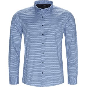 Dustin Print Shirt Regular | Dustin Print Shirt | Blå