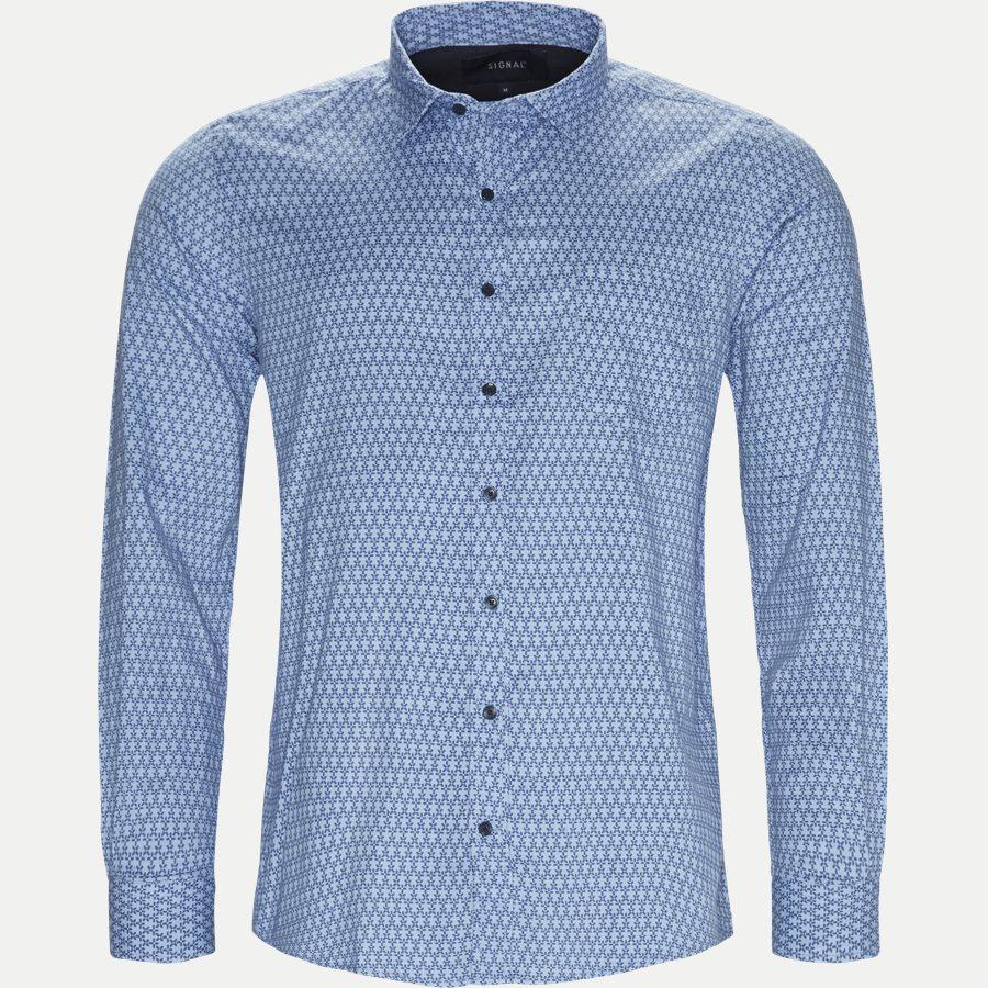 15273 1183 - Dustin Print Shirt - Skjorter - Regular - BLÅ - 1