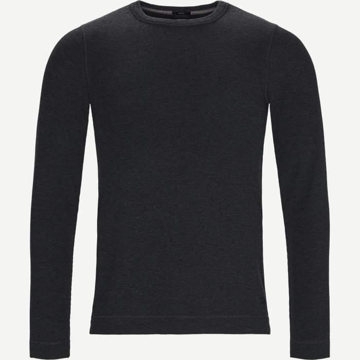 Tempest Langærmet T-shirt - T-shirts - Slim - Grå