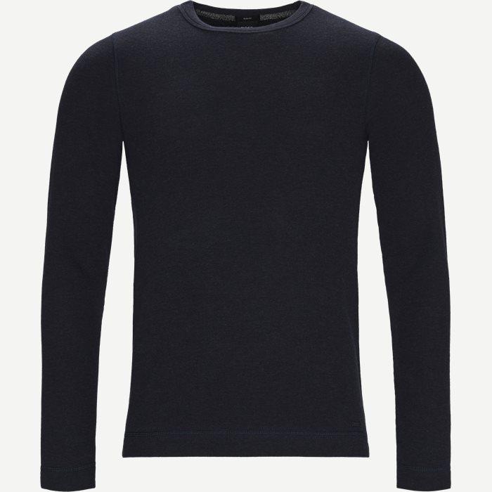 Tempest Langærmet T-shirt - T-shirts - Slim - Blå