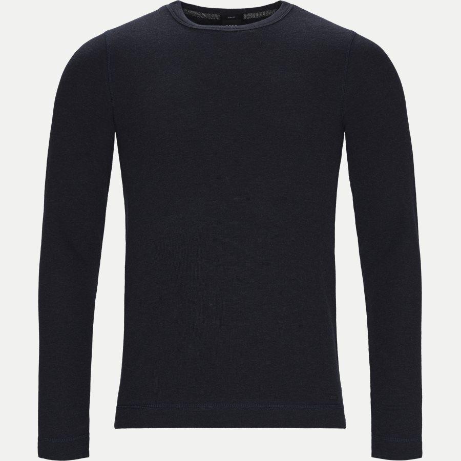 50401846 TEMPEST. - Tempest Langærmet T-shirt - T-shirts - Slim - NAVY - 1