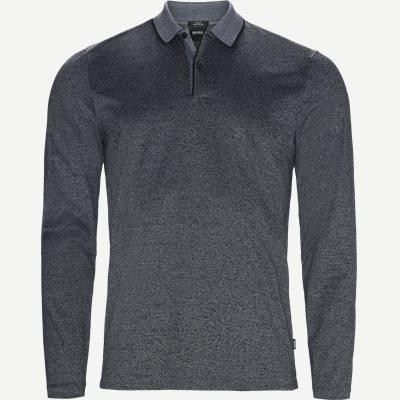 Paschal04 Long Sleeve Polo Slim | Paschal04 Long Sleeve Polo | Sort