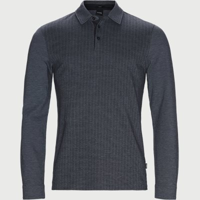 Paver10 Long Sleeve Polo Slim | Paver10 Long Sleeve Polo | Blå