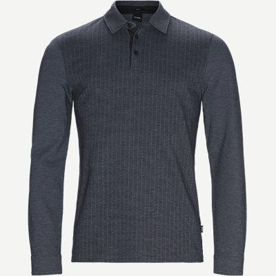 Paver10 Long Sleeve Polo Slim | Paver10 Long Sleeve Polo | Blå