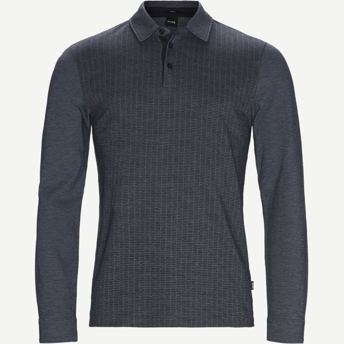 Paver10 Long Sleeve Polo - T-shirts - Slim - Blå