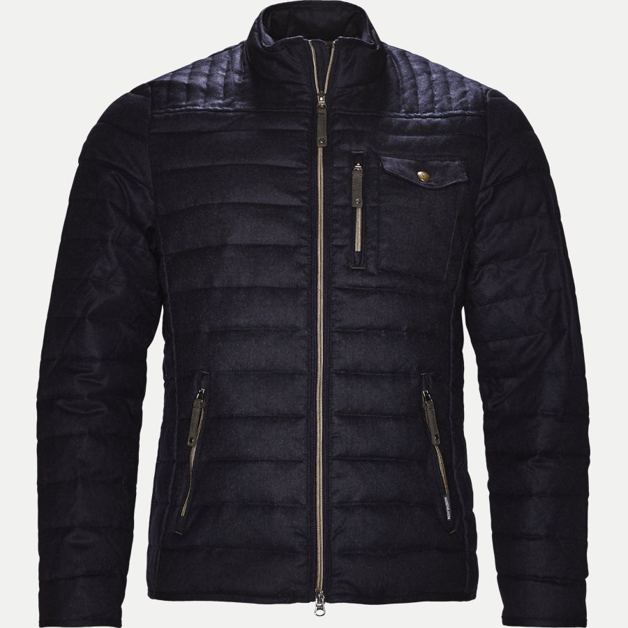04341 LT DOWN WOOL JACKET - Down Wool Jacket - Jakker - Regular - NAVY - 1