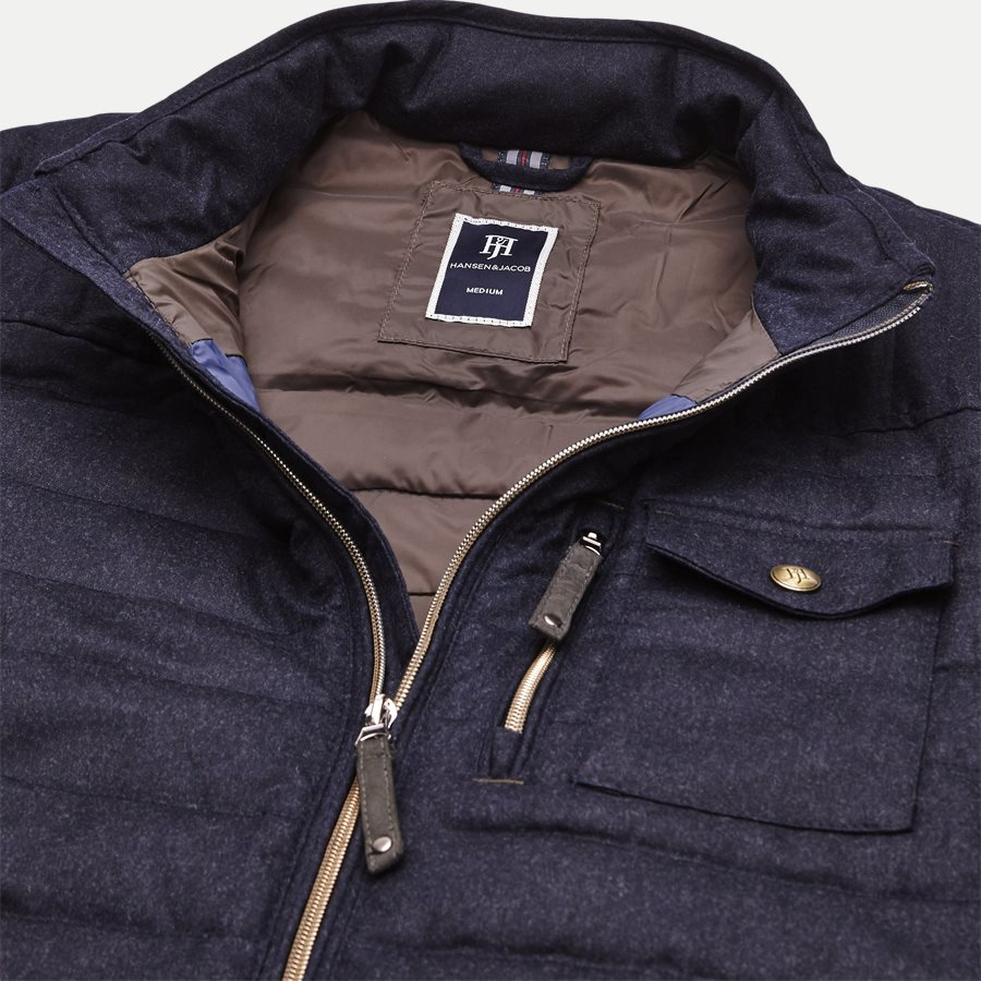 04341 LT DOWN WOOL JACKET - Down Wool Jacket - Jakker - Regular - NAVY - 3