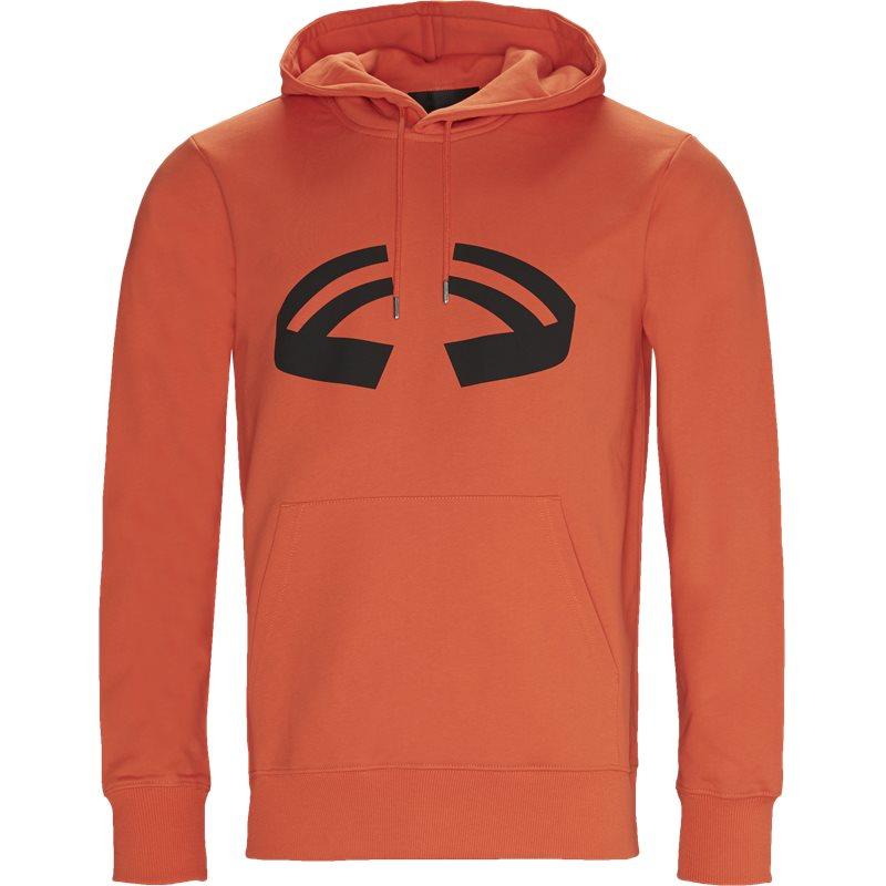 Helmut lang oversized i09pm502 haloween hoodie sweatshirts orange fra helmut lang på axel.dk