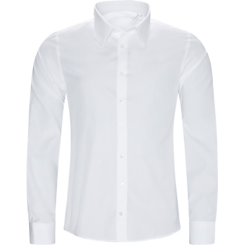 Billede af HELMUT LANG Oversized JO1HM501 LOGO PRINT POPLIN Skjorter Hvid/sølv