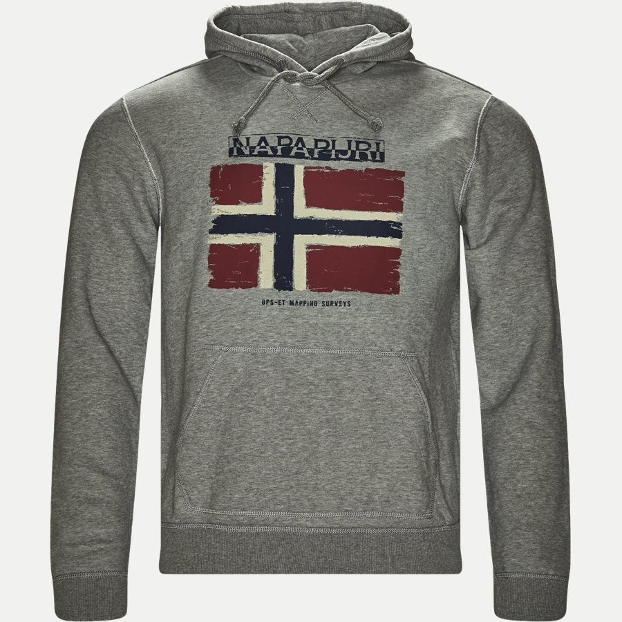 BALYS HOOD - Balys Hooded Sweatshirt - Sweatshirts - Regular - GREY - 1