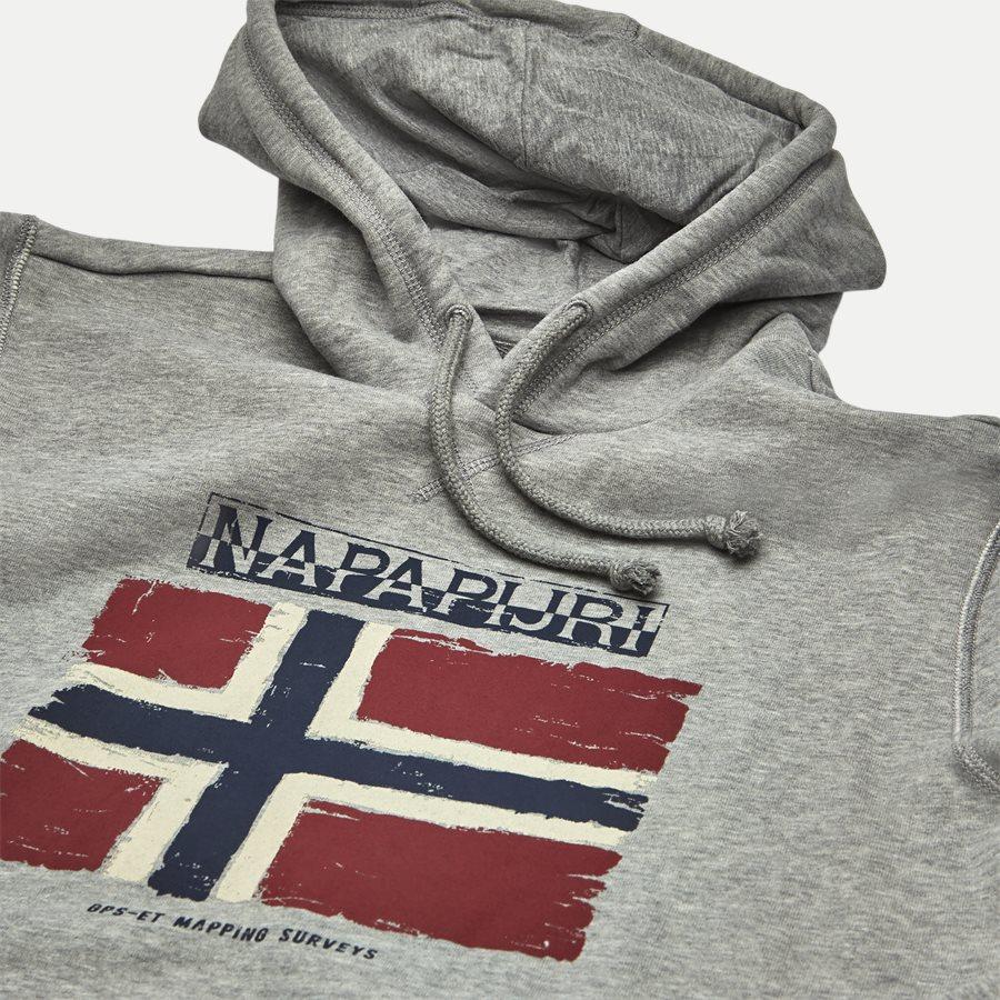 BALYS HOOD - Balys Hooded Sweatshirt - Sweatshirts - Regular - GREY - 3