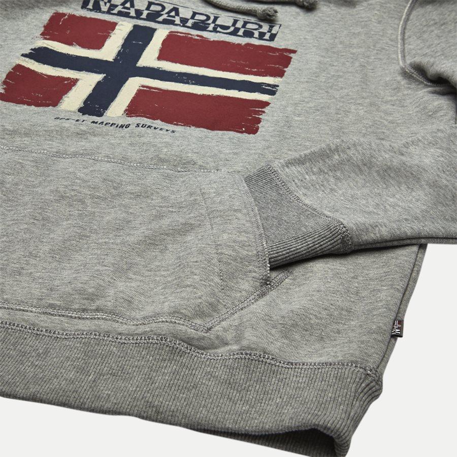 BALYS HOOD - Balys Hooded Sweatshirt - Sweatshirts - Regular - GREY - 4