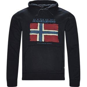 Balys Hooded Sweatshirt Regular | Balys Hooded Sweatshirt | Blå