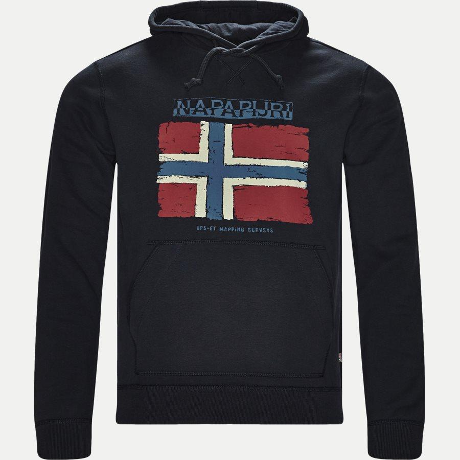 BALYS HOOD - Balys Hooded Sweatshirt - Sweatshirts - Regular - NAVY - 1