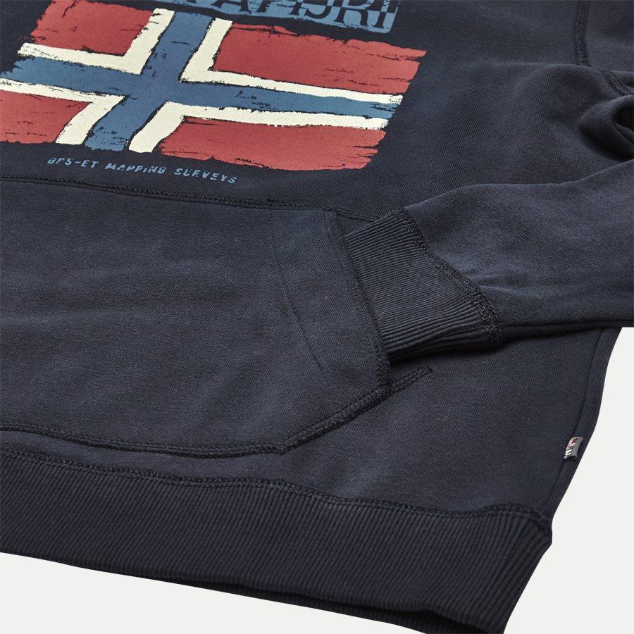 BALYS HOOD - Balys Hooded Sweatshirt - Sweatshirts - Regular - NAVY - 4