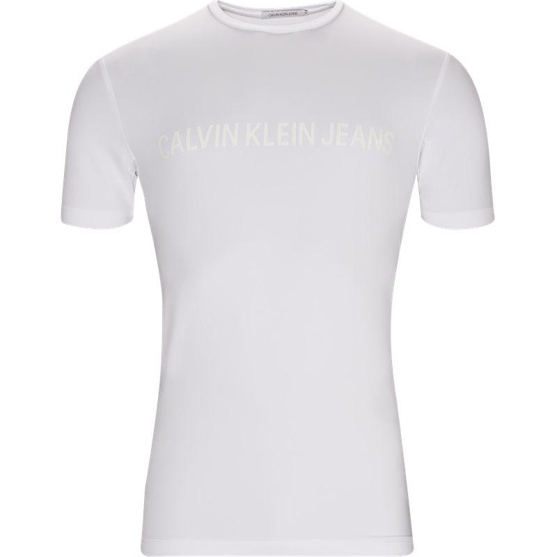 calvin klein jeans – Calvin klein jeans regular fit 9588 vinyl instit t-shirts white på axel.dk