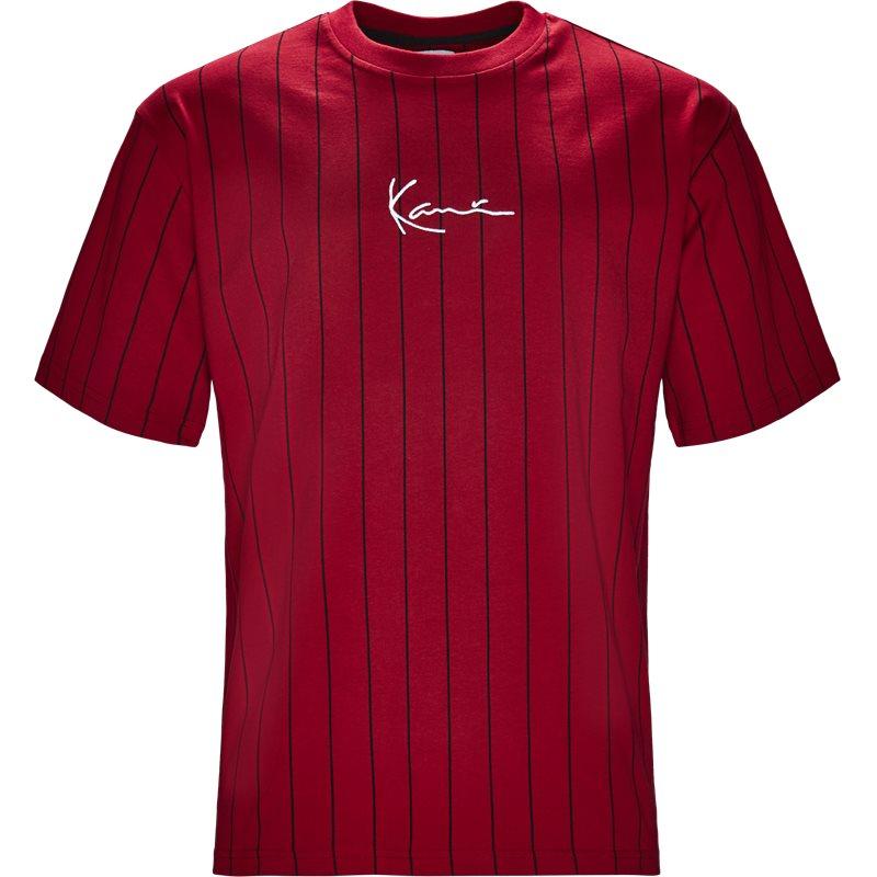 karl kani – Karl kani 6038814 pin stripe t-shirts rød på quint.dk