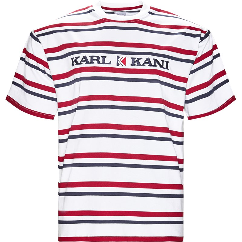 karl kani Karl kani 6038811 kk stripes t-shirts hvid fra quint.dk