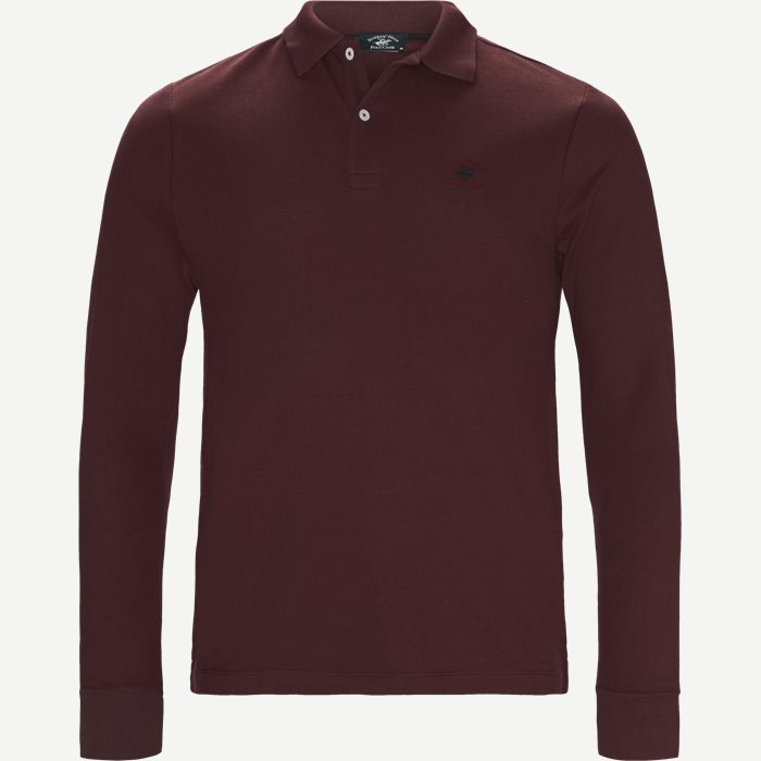 Langærmet Polo - T-shirts - Regular - Bordeaux