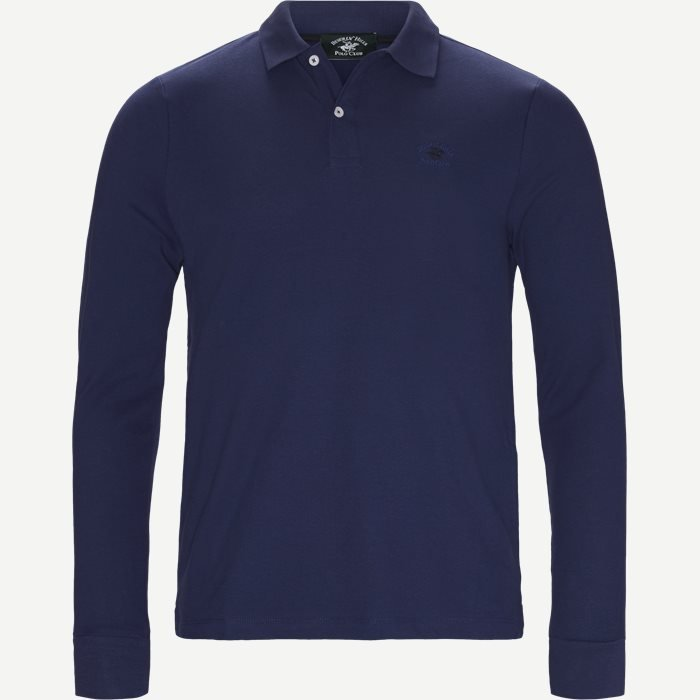 Langærmet Polo - T-shirts - Regular - Denim
