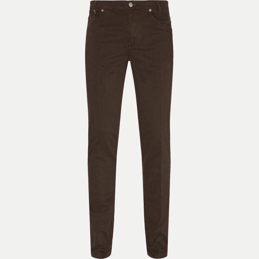 4600 TROUSER - Trouser - Bukser - Slim - BRUN - 1