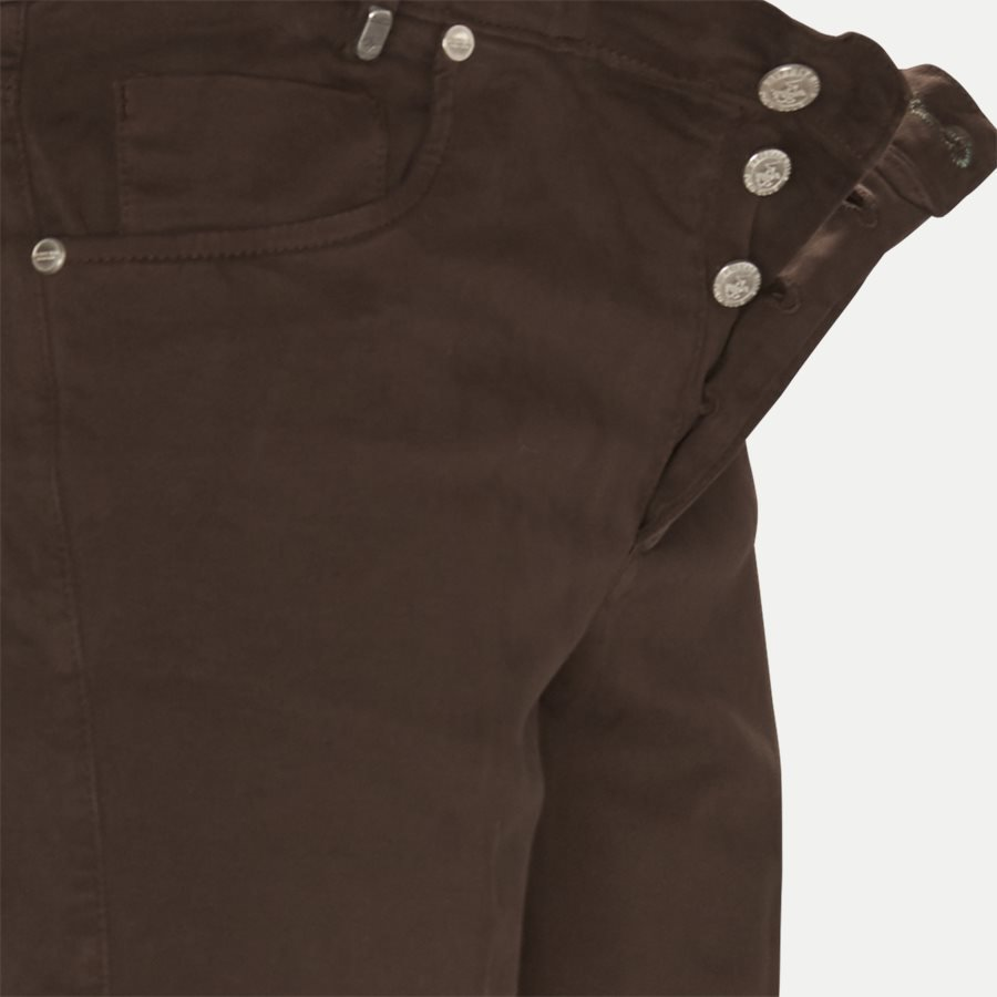 4600 TROUSER - Trouser - Bukser - Slim - BRUN - 4