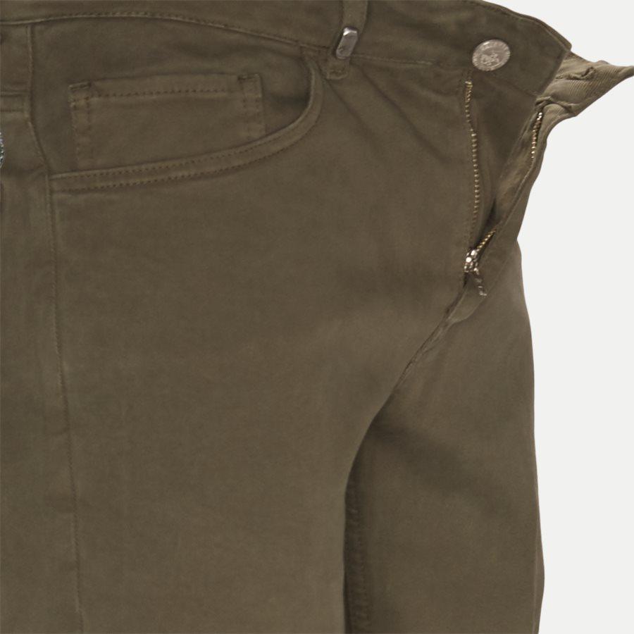 4607 TROUSER - Trouser - Bukser - Slim - ARMY - 4