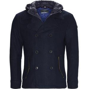 Dobbeltradet Jacket Slim | Dobbeltradet Jacket | Blå