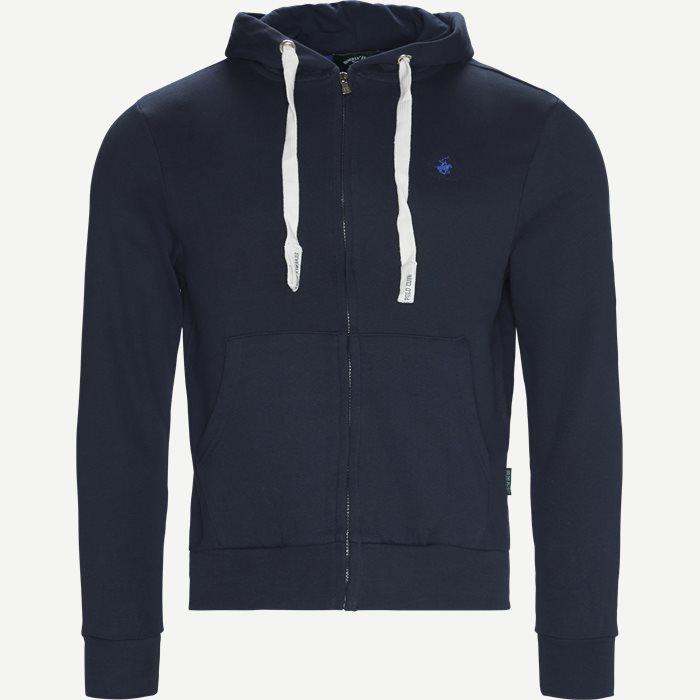 Hoodie Sweatshirt - Sweatshirts - Regular - Blå
