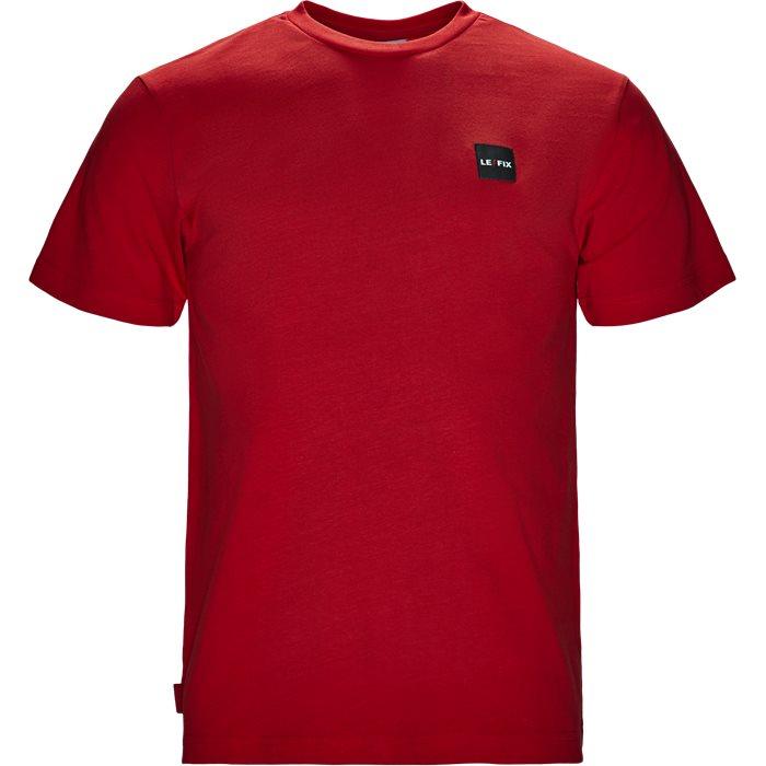 LF PATCH TEE - T-shirts - Regular fit - Rød