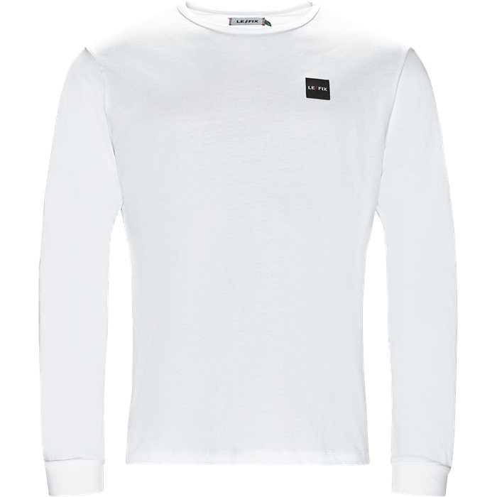 LF PATCH LS - T-shirts - Hvid