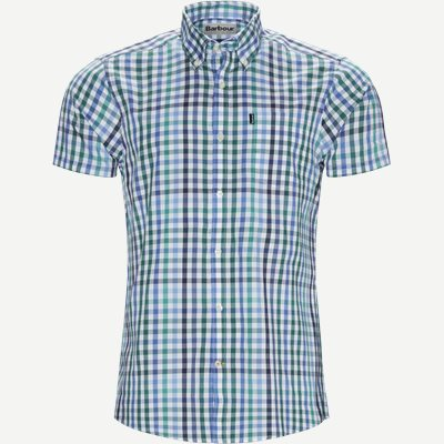 Tattersall6 Short Sleeve Shirt Tailored fit | Tattersall6 Short Sleeve Shirt | Grøn