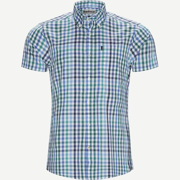 Tattersall6 Short Sleeve Shirt - Ternede skjorter - Tailored fit - Grøn