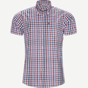 Tattersall6 Short Sleeve Shirt Tailored fit   Tattersall6 Short Sleeve Shirt   Rød